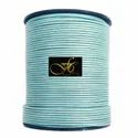 Blue Mosaic Metallic Round Leather Cord