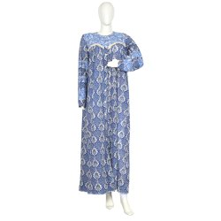10 Cotton Hand Printed Women's Long Dress India DB21