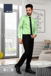 Green Color Unstitched Formal Uniform Shirt