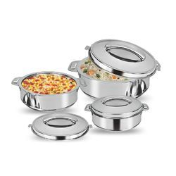 Ss RemaGlobus - Pure Stainless Steel Casserole, Capacity: 3500, for Home