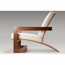 Antique Dark Brown Wooden Folding Chair