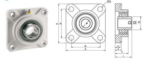 UCF Four Bolt Flange Bearing Block