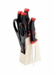 5 Piece Knife Set With Wooden Stand
