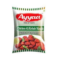 Ayyaa Chicken 65 Kebab Masala, Packaging: PP Bag, 25kg