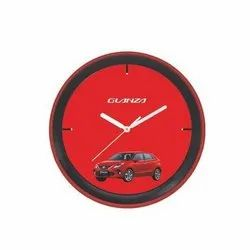 Black And Red Round Wall Clock