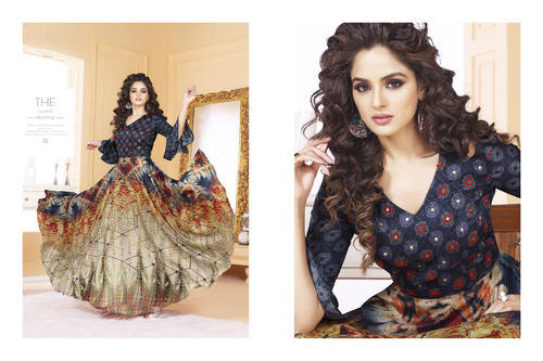 5368552818 PR Fashion New Designer Printed Indo Western Gowns, Rs 2390 /piece ...