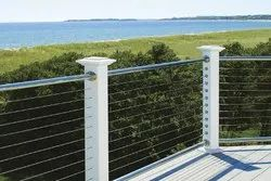 Balcony Tempered Glass SS Railing for Home