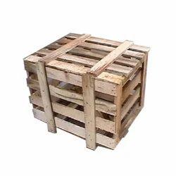 Rectangular Hardwood Industrial Wooden Crate Box