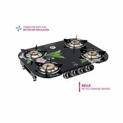 MC-432 Glass Four Burner Stove