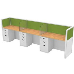 Office Workstation With Moving Pedestal