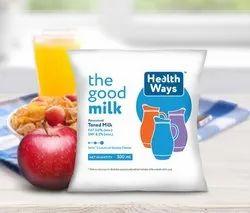 Organic Healthways 500ml Toned Milk, Packaging Type: Packet