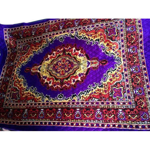Polyester Embroidered Printed Floor Carpet, Size/Dimension: 6 X 3 feet