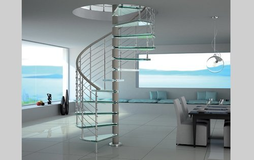 Saint gobain glass spiral staircase warranty 5 years rs for Mobirolo prezzi
