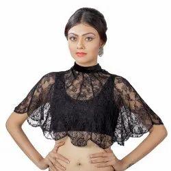 Abhi Fancy Black Net Top with Sleeveless Inner