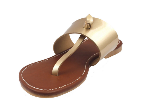 09093881a5a9 Foot Wagon Ladies Tan Leather Party Wear Flats Sandal