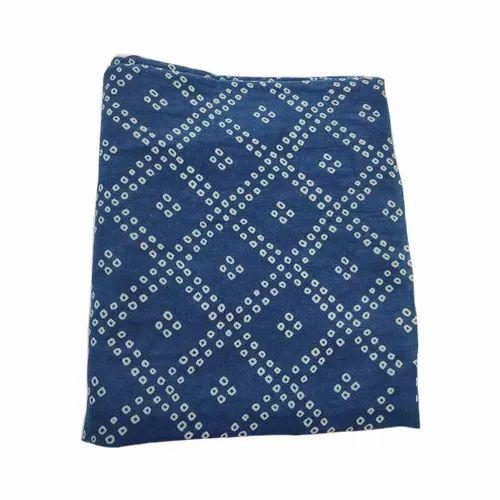 Blue Hand Block Printed Fabric