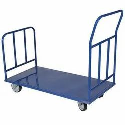Mild Steel Double Ended Platform Trolley, Trolley Size: 4x3 Feet, For Industrial