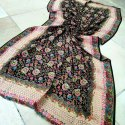 Printed ari work shawl
