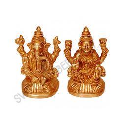 Brass Ganesha Laxmi Statue