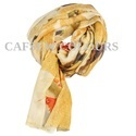 Printed Wool Silk Cashmere Scarves