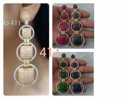 AD Long Earrings For Women