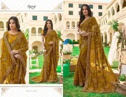 Fancy Party Greenish Designer Saree