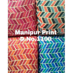 Manipuri Silk Digital Printed Fabric