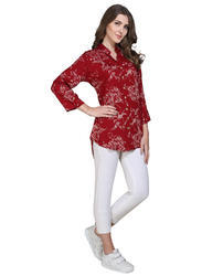 Red Designer Long Top
