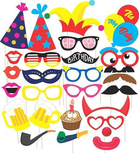 Discount Retail Laser Cut Party Props For Birthday Party