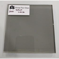 Grey Lacquered Painted Glass