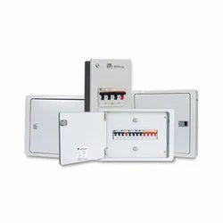 Mild Steel Schneider 6 Way SPN Double Door, IP Rating: IP43