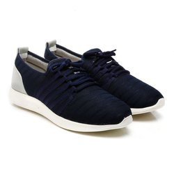 Mens Blue Synthetic Walking Shoes