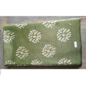 Green And White Printed Cotton Silk Boutique Fabric