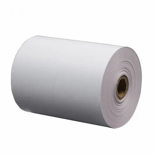 White Plain Thermal Paper Billing Rolls, GSM: Less than 80 GSM