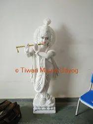 Marble White Krishna Murti