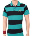 Stripped Polo T-Shirt Silicon Washed