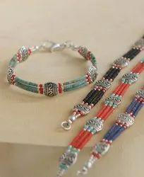 Women Bohemian Sweet Style Rice Beads Woven Bracelet