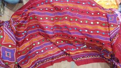 Mirror Work Embroidered Ladies Cotton Dupatta