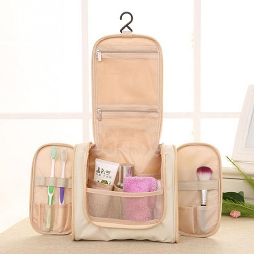 2e191f108a Travel Organiser Multi Pockets Toiletry Cosmetic MakeUp Hanging Unisex Bag
