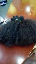 Natural Indian Human Afro Curly Hair