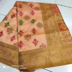 Soft Silk With Mena Jari Butta Pallu- Rich Pallu Saree