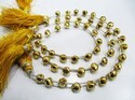 Beautiful Golden Pyrite Onion Shape Faceted Beads
