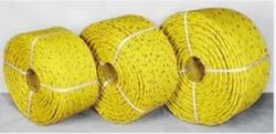 Twisted Yellow PP Rope, For Industrial, Thickness: 6 Mm -24 Mm Dia