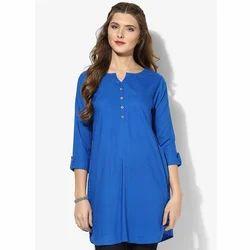 Ladies Rayon Blue Tops