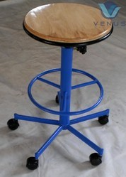 Stool With Wooden Top