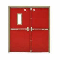 Double Leaf Color Coated Fire Proof Steel Door