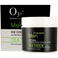 O3  Men Tea Tree Ice Cool Acne-Blemish Control Mask, 300g