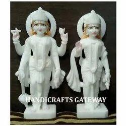 White Marble Laxmi Vishnu Murti
