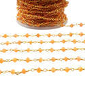 Carnelian Gemstone Rosary Beaded Chains