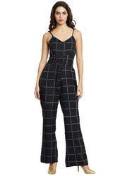 6d81526e6b6 Beautiful Designer Poly Crepe Black Jumpsuit